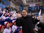 North Korean cheerleaders caught off guard by fake Kim Jong Un