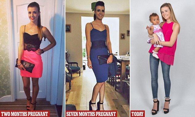 Pic By HotSpot Media - WOMAN HAS SURPRISE BABY DESPITE HAVING FLAT STOMACH AND REGULAR PERIODS - IN PIC - Charlotte Thomson, now 21, of Newcastle upon Tyne, pictured before a night out in October 2015, unaware she was seven months pregnant. - A party-loving teen who was a slinky size 8 gave birth to a surprise baby ÇƒÏ after believing her stomach pains were period cramps. Charlotte Thomson, now 21, of Newcastle upon Tyne, said she had no idea she was pregnant as she was having regular periods and could still squeeze into her figure-hugging dresses. She told how she was woken up in the night with excruciating stomach pains and she rushed to hospital. There doctors told her she was in labour and Charlotte gave birth to daughter Molly, now two, three hours later. Charlotte, a nursery nurse, says: ǃ¿My stomach was completely flat, and IǃÙd been having regular periods so it was such a shock when I found out. ǃ¿I didnǃÙt believe that I was actually pregnant until I gave birth. ǃ¿It was scary becoming a first-time mum with no warning. ǃ¿But I wouldnǃÙt change Molly for the world, and I feel so lucky.ǃ...SEE HOTSPOT MEDIA COPY 0121 551 1004