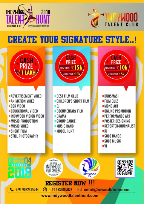 Indywood Talent Hunt 18 Official Poster New