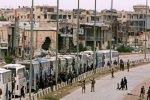 Rebels begin leaving new area outside Damascus
