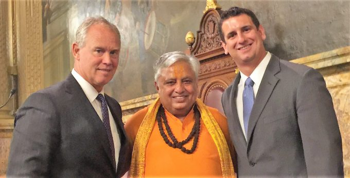 With Speaker Mike Turzai and Majority Leader Dave Reed of Pennsylvania House of Representatives in Harrisburg, Pennsylvania_ June 19, 2018