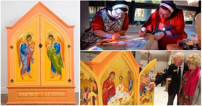 World Meeting of Families Icon Dublin Monastry of St Aloysius, Drumcondra 17 August 2017 CREDIT: www.LiamMcArdle.com