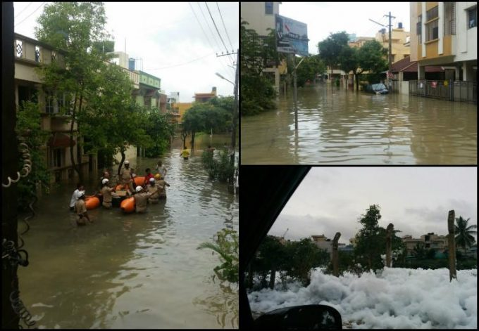 Bengaluru flood collage 3x2