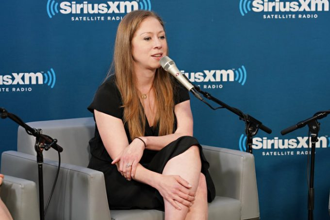 NEW YORK, NY - SEPTEMBER 13: Chelsea Clinton speaks at SiriusXM with Nancy Northup and hosts Zerlina Maxwell and Jess McIntosh at the SiriusXM Studio on September 13, 2018 in New York City. (Photo by Cindy Ord/Getty Images for SiriusXM)