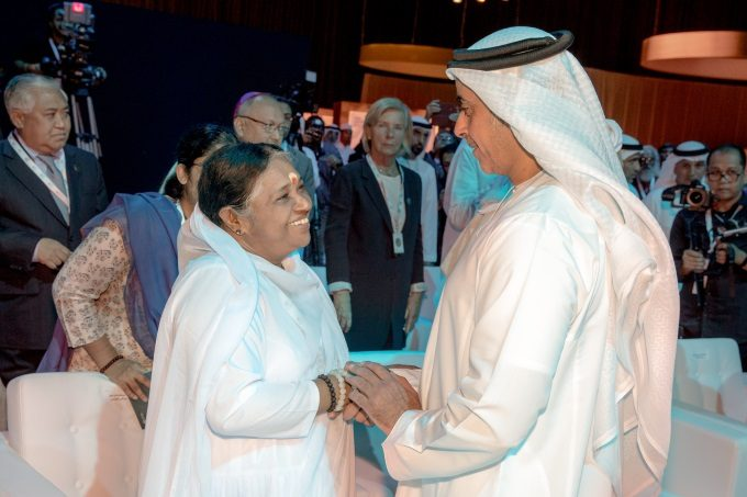 2018-11-19--Amma & His Highness Sheikh Saif Bin Zayed Al Nahyan, Deupty PM of the Interior of the UAE