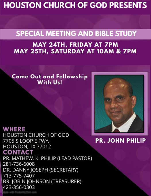 Church of God Special meeting