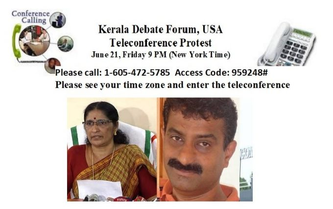 3-Kerala Debate Forum USA -Teleceonference Protest Meeting News photo