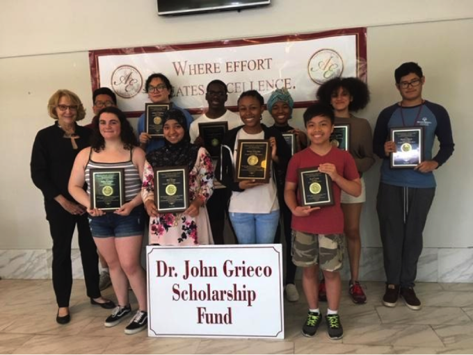 2019 Dr John Grieco Scholarship Fund Recipients