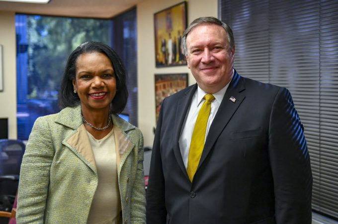 pompeo with condoleeza rice1