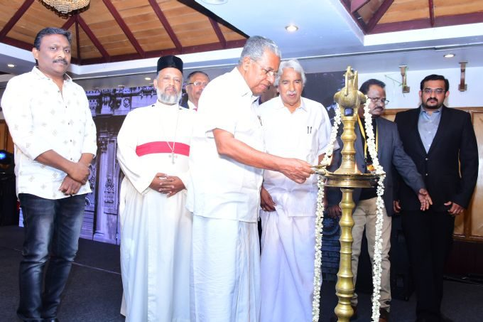 Cheif Minister Pinaryi Vijayan Lighting the lamp