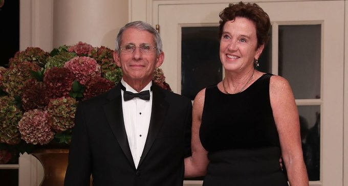 Dr Anthony Faucci and wife Dr De Christine Grady