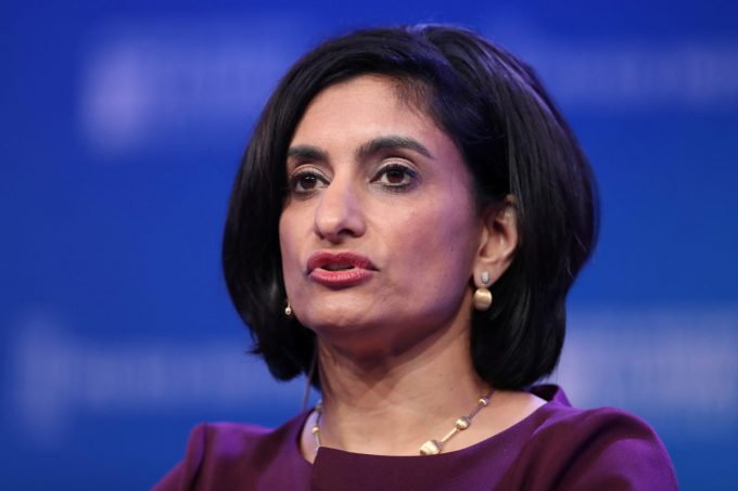 Seema Verma, Administrator of Centers for Medicare and Medicaid Services, U.S. Department of Health and Human Services, speaks at the 2019 Milken Institute Global Conference in Beverly Hills, California, U.S., April 29, 2019. REUTERS/Lucy Nicholson