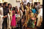 വിവാഹ വസ്ത്രത്തില് സുന്ദരിയായി ദിവ്യാ ഉണ്ണി; വിവാഹ സല്ക്കാര വീഡിയോ