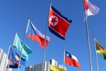 North Korean flag flies in South before Olympic Games opens