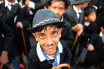 The Great Impersonators: Charlie Chaplin fans parade through Indian town