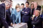 Merkel-Trump G7 face-off photo headed for history books