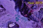 മന്ദാകിനി നദിയുടെ വൃഷ്ടി പ്രദേശത്തെ മഞ്ഞുമലകള്ക്കിടയിലെ തടാകത്തിന് വ്യാസം കൂടുന്നു