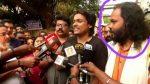 2002-ല് കള്ളനോട്ട് കേസില് അറസ്റ്റു ചെയ്ത ഹരി രാഹുല് ഈശ്വറിനോടൊപ്പം പത്രസമ്മേളനത്തില്