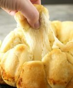Garlic, onion, and mozzarella cheese pastry