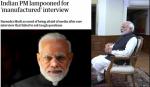 നരേന്ദ്ര മോദി തയ്യാറാക്കിയ ഉത്തരങ്ങള്ക്ക് 'ചോദ്യം' തയ്യാറാക്കി മാധ്യമ പ്രവര്ത്തക; പരിഹാസ ശരങ്ങളുമായി ലോക മാധ്യമങ്ങള്