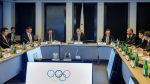 The International Olympic Committee bars India from hosting future sporting events after Pakistani shooters denied visas