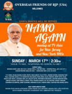OFBJP-CHAI PE CHARCHA – NAMO AGAIN – 2019 AT TV ASIA ON SUNDAY MARCH 17 @ 2:30 pm