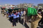 Yemen holds mass funeral for children killed in Sanaa blast