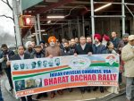 Indian Overseas Congress, USA holds protest Rally (Bharat Bachao) in front of the Indian Consulate in New York