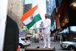 FIA Makes History; Consul General Randhir Jaiswal Hoists Indian Tricolor to Celebrate India's 74th Independence Day at Times Square