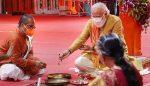 നരേന്ദ്ര മോദിയുടെ ഇരുപത്തെട്ടു വര്ഷത്തെ തപസ്യക്ക് പരിസമാപ്തിയായി, ആത്മനിര്വൃതിയോടെ രാമക്ഷേത്ര ഭൂമി പൂജയില് പങ്കെടുത്തു