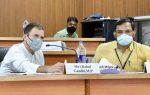 മലപ്പുറത്ത് നടന്ന കോവിഡ് -19 അവലോകന യോഗത്തിൽ രാഹുൽ ഗാന്ധി പങ്കെടുത്തു
