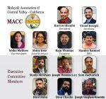 മലയാളി അസ്സോസിയേഷൻ ഓഫ് സെൻട്രൽ വാലി കാലിഫോർണിയയുടെ (MACC) പുതിയ ഭാരവാഹികൾ ചുമതലയേറ്റു